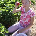 Our daughter enjoying the fruit of her labors