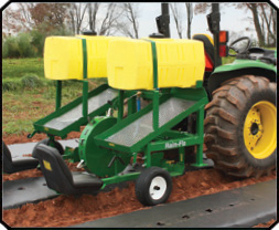 Rain flo water wheel planter