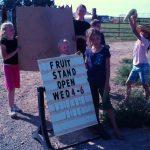 Farm School Kids set up a Fruit Stand!